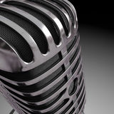 Dichte microfoon Royalty-vrije Stock Afbeelding
