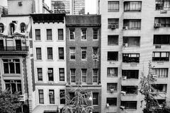 Dichte New- York Citygebäude Stockfoto