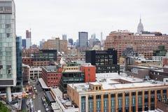 Dichte New- York Citygebäude Stockfotografie
