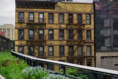 Dichte New- York Citygebäude Stockbilder