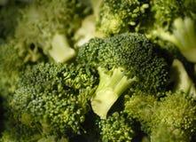 Dichte Omhooggaand van broccoli stock afbeeldingen