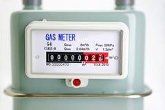 Dichte omhooggaand van de Aardgasmeter Royalty-vrije Stock Afbeelding