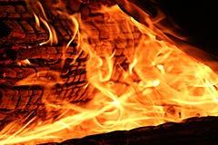Dichte omhooggaand van de brand Stock Foto's