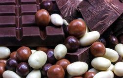 Dichte omhooggaand van de chocolademengeling Stock Foto's