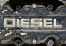 Dichte omhooggaand van de dieselmotor Stock Afbeeldingen