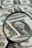 Dichte omhooggaand van de dollar Royalty-vrije Stock Foto's