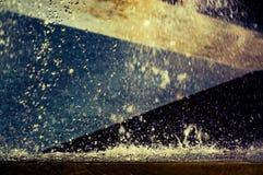 Dichte omhooggaand van de fontein, samenvatting Stock Afbeeldingen