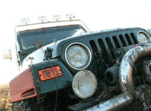 Dichte omhooggaand van de jeep Royalty-vrije Stock Afbeeldingen
