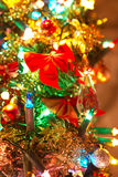 Dichte omhooggaand van de kerstboom Royalty-vrije Stock Foto's