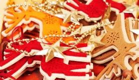 dichte omhooggaand van de Kerstmisdecoratie Royalty-vrije Stock Foto's