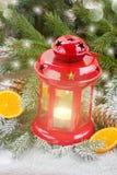 Dichte omhooggaand van de Kerstmislantaarn Stock Fotografie