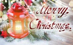 Dichte omhooggaand van de Kerstmislantaarn Royalty-vrije Stock Afbeelding