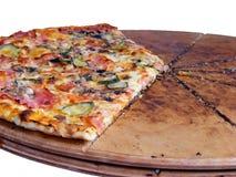 Dichte omhooggaand van de pizza Stock Afbeelding