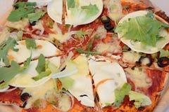 Dichte omhooggaand van de pizza Royalty-vrije Stock Fotografie