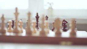 Dichte Omhooggaand van de Raad van het schaak Vrije tijdsactiviteiten stock footage