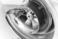 Dichte omhooggaand van de turbocompressorstructuur stock afbeeldingen