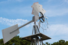 Dichte omhooggaand van de windmolen Stock Afbeelding