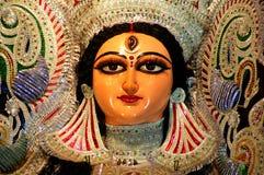 Dichte omhooggaand van een idool Durga. Royalty-vrije Stock Fotografie