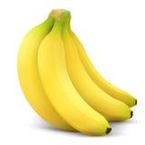 Dichte omhooggaand van het banaanfruit Royalty-vrije Stock Afbeeldingen
