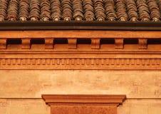 Dichte omhooggaand van het Dak van Toscany Stock Afbeelding