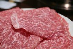 Dichte omhooggaand van het Matsusakarundvlees Stock Afbeeldingen