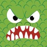 Dichte omhooggaand van het monster - boos Stock Afbeeldingen