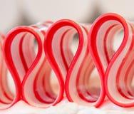 Dichte Omhooggaand van het Suikergoed van het lint Royalty-vrije Stock Fotografie