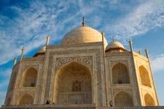 Dichte omhooggaand van Mahal van Taj Royalty-vrije Stock Afbeeldingen