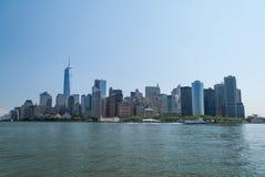 Dichte omhooggaand van Manhattan de stad in Royalty-vrije Stock Foto's