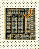 Dichte omhooggaand van Microscheme Royalty-vrije Stock Foto
