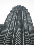 Dichte omhooggaand van Petronas Tweelingtorens KL stock afbeelding