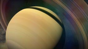 Dichte omhooggaand van planeetsaturn Royalty-vrije Stock Foto's