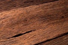 Dichte omhooggaande de textuurachtergrond van de aard donkere bruine houten vlek Royalty-vrije Stock Foto