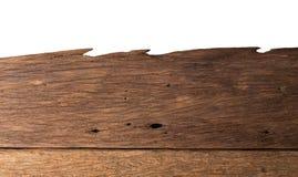 Dichte omhooggaande die textuur van de aard de donkere bruine houten vlek op wit wordt geïsoleerd Stock Fotografie