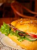 Dichte sandwich royalty-vrije stock afbeeldingen
