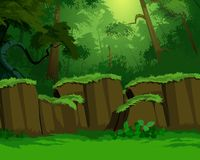 Dichte Waldansicht Vektor Abbildung