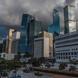 DICHTE WOLKENKRABBERS HONG KONG   HOOG - KWALITEIT royalty-vrije stock fotografie