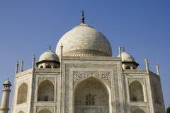 Dichtere Mening van Taj Mahal, Agra (India) Stock Foto's