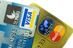 Dichtere Omhooggaande creditcard Stock Foto's