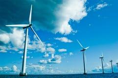 Dichtere windmolens, horizontaal Stock Fotografie