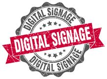 Dichtung der digitalen Beschilderung stempel stock abbildung