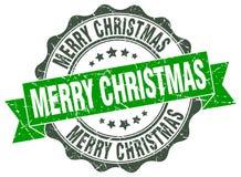 Dichtung der frohen Weihnachten stempel lizenzfreie abbildung