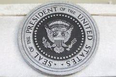 Dichtung des Präsident der USA Stockbild