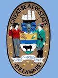 Dichtung des Zustandes von Delaware Stockfotos