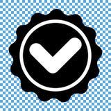 Dichtung mit Kontrolle Mark Icon Vector Lizenzfreies Stockbild