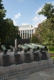 Diciassettesimo-diciottesimi secoli dei cannoni russi del campo Immagini Stock
