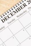 Diciembre en calendario. Imagenes de archivo