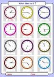 Diciendo el tiempo, cuál es el tiempo, Fotografía de archivo