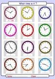 Diciendo el tiempo, dibuje el tiempo Imágenes de archivo libres de regalías
