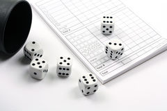 Dicing. Gambling. Set for playing dices stock image